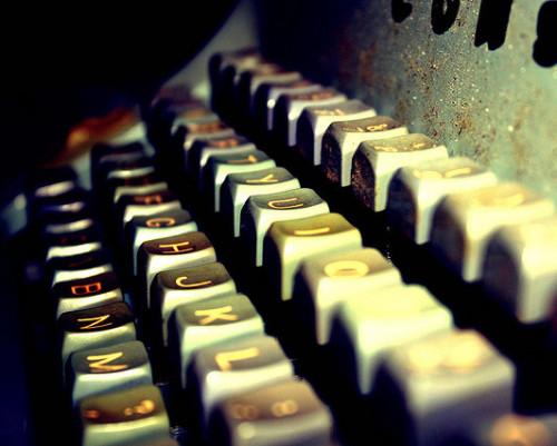Photo of typewriter keyboard
