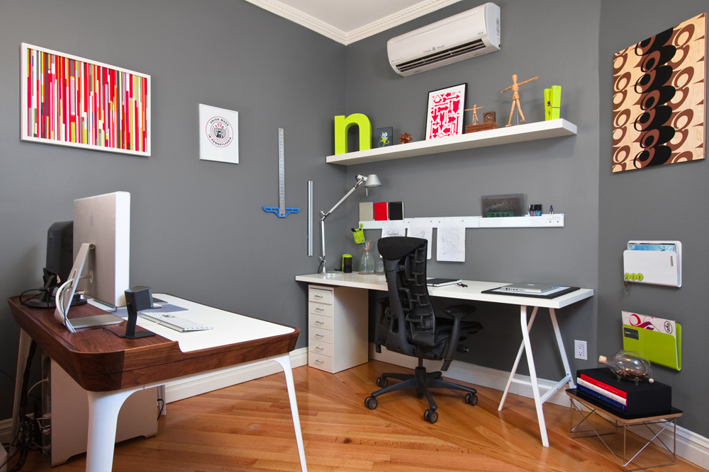 decluttered organized office