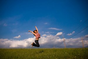 jumping for joy, identify your strengths